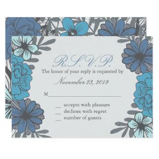 Tarjetas florales retras de la respuesta invitación 8,9 x 12,7 cm