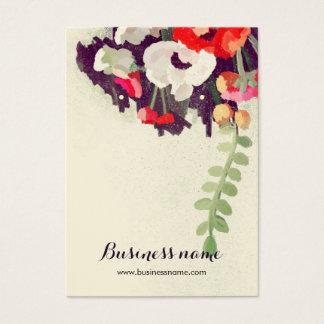 Tarjetas florales rojas artísticas del pendiente