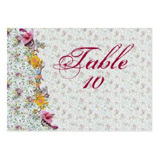 Tarjetas floridas del asiento del boda tarjetas de visita grandes