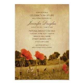 Tarjetas fúnebres del monumento de las invitación 12,7 x 17,8 cm