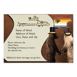 Tarjetas gay de los alojamientos del boda o de la comunicado personalizado