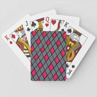 Tarjetas geométricas rojas del estándar del modelo baraja de cartas