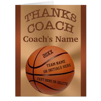 Tarjetas GRANDES del entrenador de béisbol con
