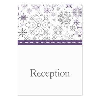 tarjetas grises púrpuras de la recepción del invie tarjetas de negocios