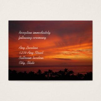 Tarjetas hawaianas ardientes de la recepción de la