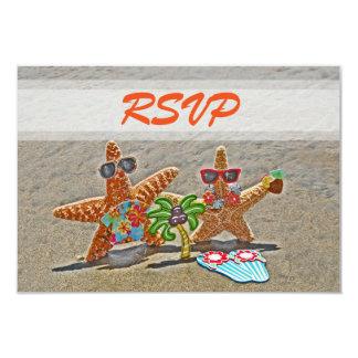 Tarjetas hawaianas de RSVP de los pares de las Invitación 8,9 X 12,7 Cm