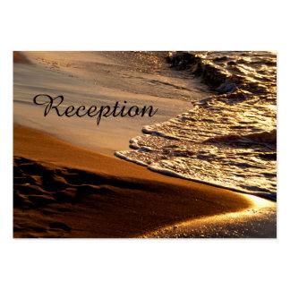 Tarjetas hermosas de la recepción nupcial de la tarjetas de visita grandes