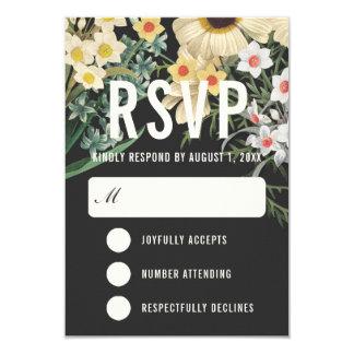 Tarjetas ideales botánicas de RSVP que se casan