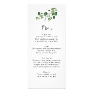 Tarjetas ideales botánicas del menú de Botanicals