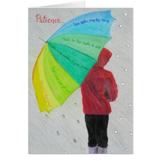 Tarjetas inspiradas y de motivación: Paciencia…