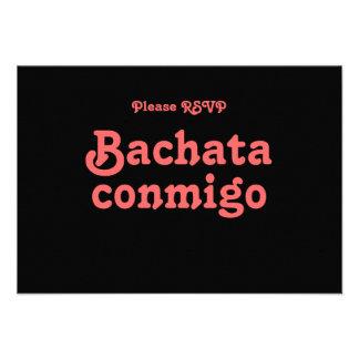 Tarjetas latinas de RSVP del baile de la salsa de Anuncios
