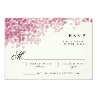 Tarjetas ligeras violetas de la respuesta de RSVP Invitación 8,9 X 12,7 Cm