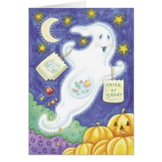 Tarjetas lindas del fantasma de Halloween