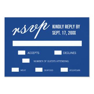Tarjetas minimalistas modernas azules de RSVP que Invitación 8,9 X 12,7 Cm