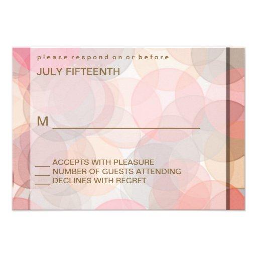 Tarjetas minimalistas modernas de la respuesta del invitación personalizada