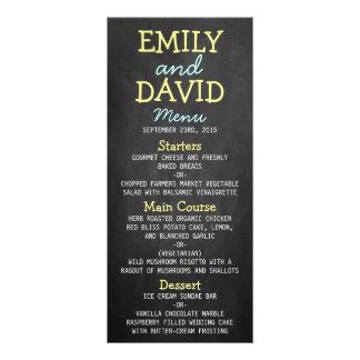 Tarjetas modernas del menú del boda de la tarjetas publicitarias personalizadas
