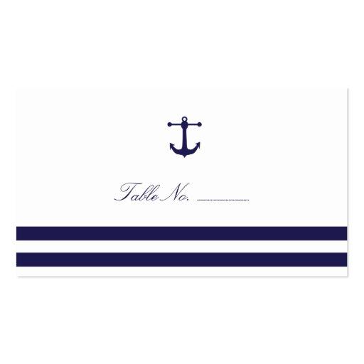 Tarjetas náuticas del acompañamiento de la tabla d plantilla de tarjeta personal