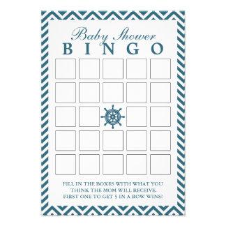 Tarjetas náuticas del bingo de la fiesta de bienve comunicados