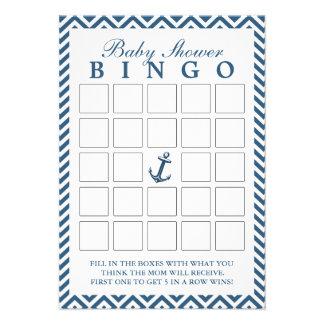 Tarjetas náuticas del bingo de la fiesta de bienve anuncio