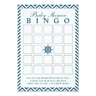 Tarjetas náuticas del bingo de la fiesta de invitación 8,9 x 12,7 cm