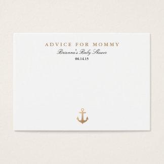 Tarjetas náuticas del consejo de la mamá de la