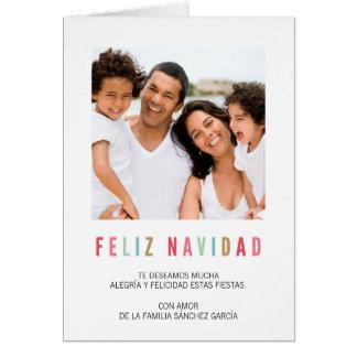 Tarjetas Navideñas de Foto el | Saludos Coloridos