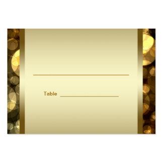 Tarjetas negras de la tabla de la recepción de Mit Tarjetas De Visita Grandes