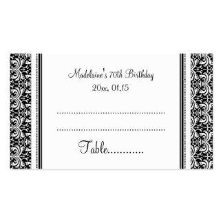 Tarjetas negras del cubierto de la tabla del cumpl plantillas de tarjetas personales