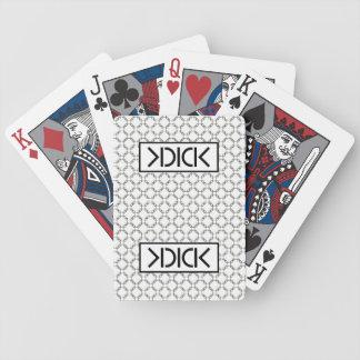 Tarjetas negras del póker de la bicicleta de KDICK Baraja De Cartas Bicycle