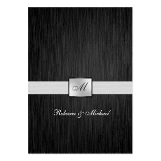 Tarjetas negras y de plata elegantes de RSVP del Tarjetas De Visita Grandes