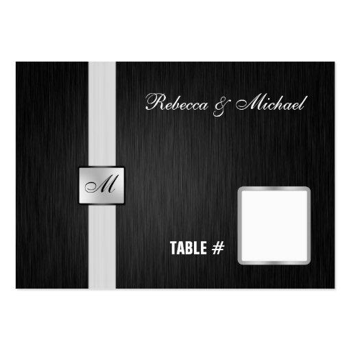Tarjetas negras y de plata elegantes del lugar del tarjetas de visita