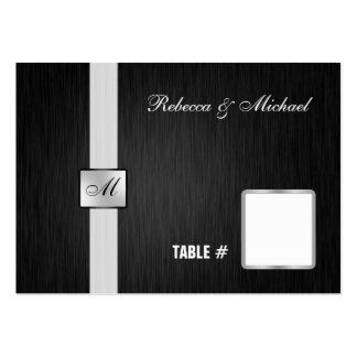 Tarjetas negras y de plata elegantes del lugar del tarjetas de visita grandes