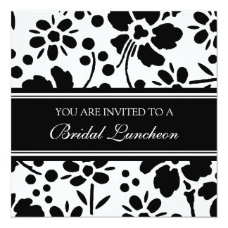 Tarjetas nupciales blancos y negros de la invitación 13,3 cm x 13,3cm