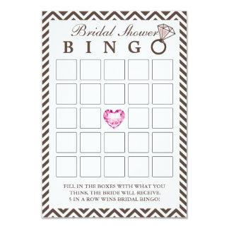 Tarjetas nupciales con clase del bingo de la ducha invitacion personalizada