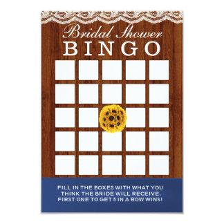 Tarjetas nupciales de madera del bingo de la ducha invitación 8,9 x 12,7 cm