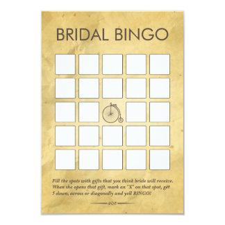 Tarjetas nupciales de papel viejas del bingo de la invitación 8,9 x 12,7 cm