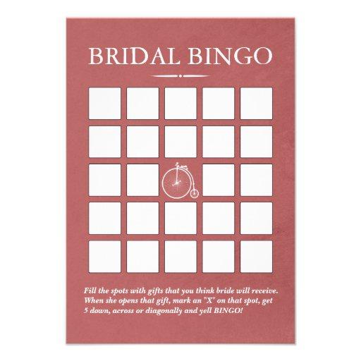 Tarjetas nupciales del bingo de la ducha de la bic anuncios personalizados
