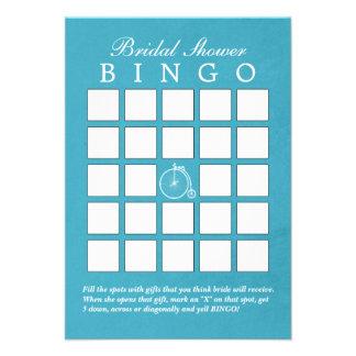 Tarjetas nupciales del bingo de la ducha de la bic invitaciones personalizada