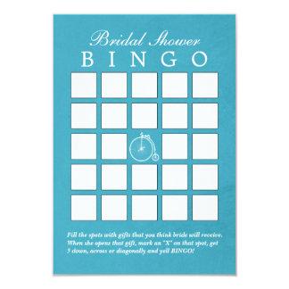 Tarjetas nupciales del bingo de la ducha de la invitaciones personalizada