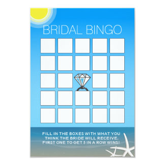 Tarjetas nupciales del bingo de la ducha de la invitación 8,9 x 12,7 cm