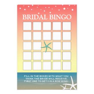 Tarjetas nupciales del bingo de la ducha de la pla anuncio personalizado