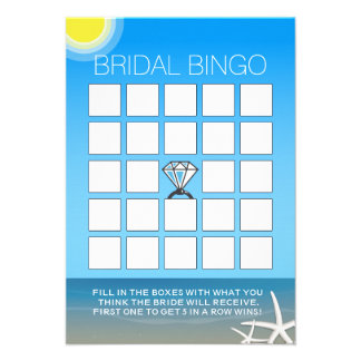 Tarjetas nupciales del bingo de la ducha de la pla anuncios