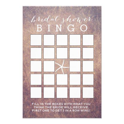 Tarjetas nupciales del bingo de la ducha de las es invitación personalizada
