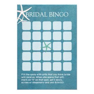 Tarjetas nupciales del bingo de la ducha del boda  comunicados personales