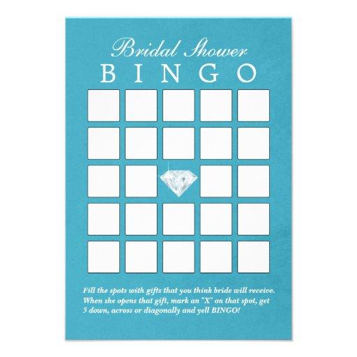 Tarjetas nupciales del bingo de la ducha del diama comunicados personalizados