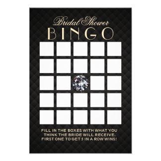 Tarjetas nupciales del bingo de la ducha del diama invitación personalizada
