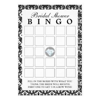 Tarjetas nupciales del bingo de la ducha del diama comunicados