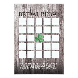 Tarjetas nupciales del bingo de la ducha del fondo invitación 8,9 x 12,7 cm