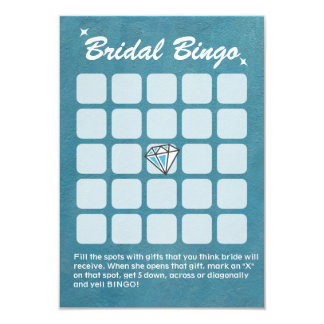 Tarjetas nupciales del bingo de la ducha del invitación 8,9 x 12,7 cm