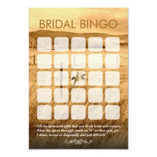 Tarjetas nupciales del bingo de la ducha del país invitación 8,9 x 12,7 cm